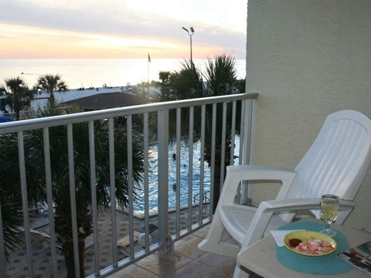 Relax on your balcony after a fun day.