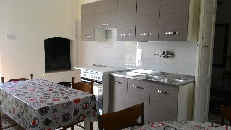 Kitchenette with fireplace