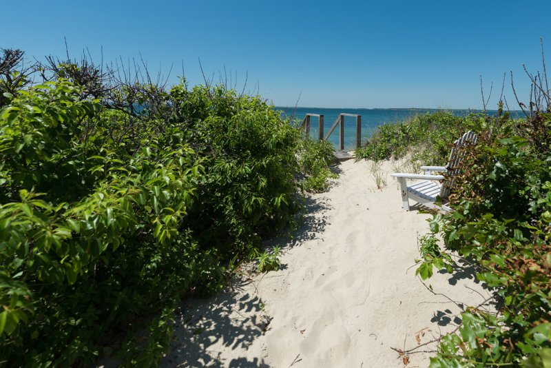 Private Path in front of Cottage to Beach