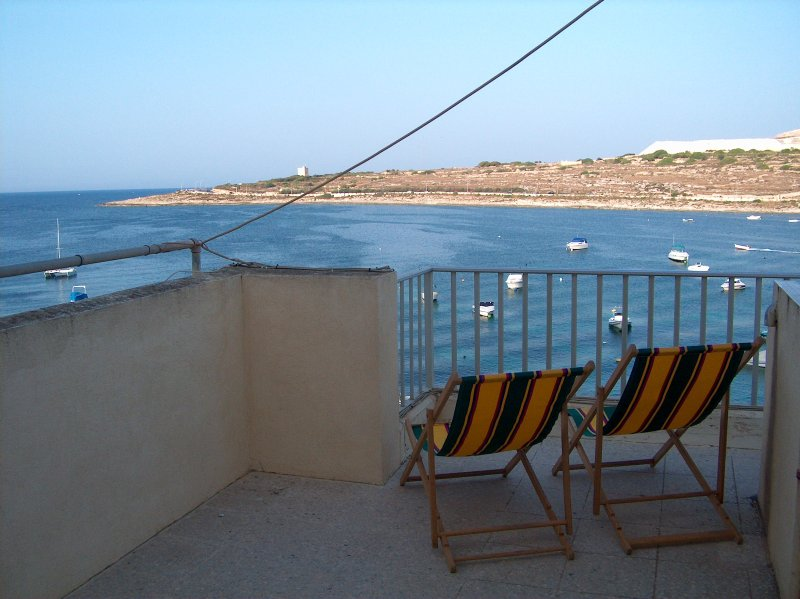 View from the roof terrace BBQ area