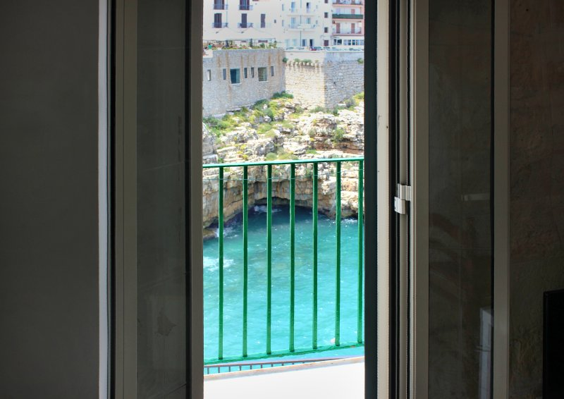 Panoramic sea view from the balcony of the living room