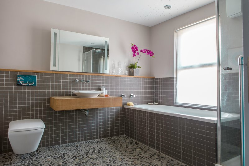 Pebble platt Luxus-Badezimmer