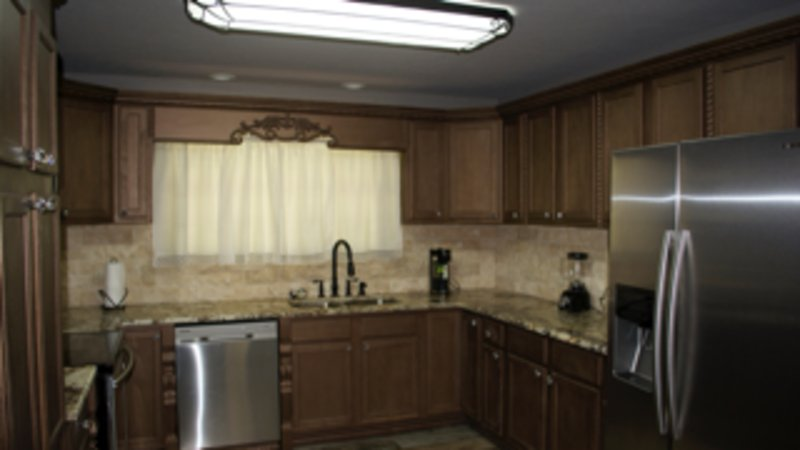 Kitchen with top of the line stainless steel appliances