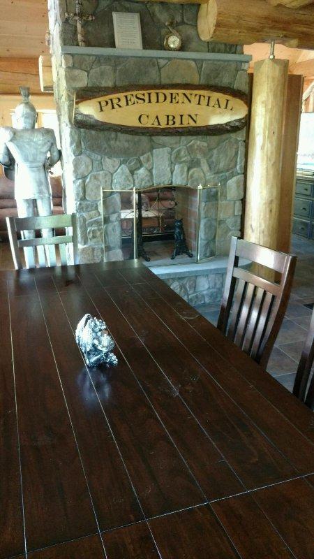 9 foot rustic table