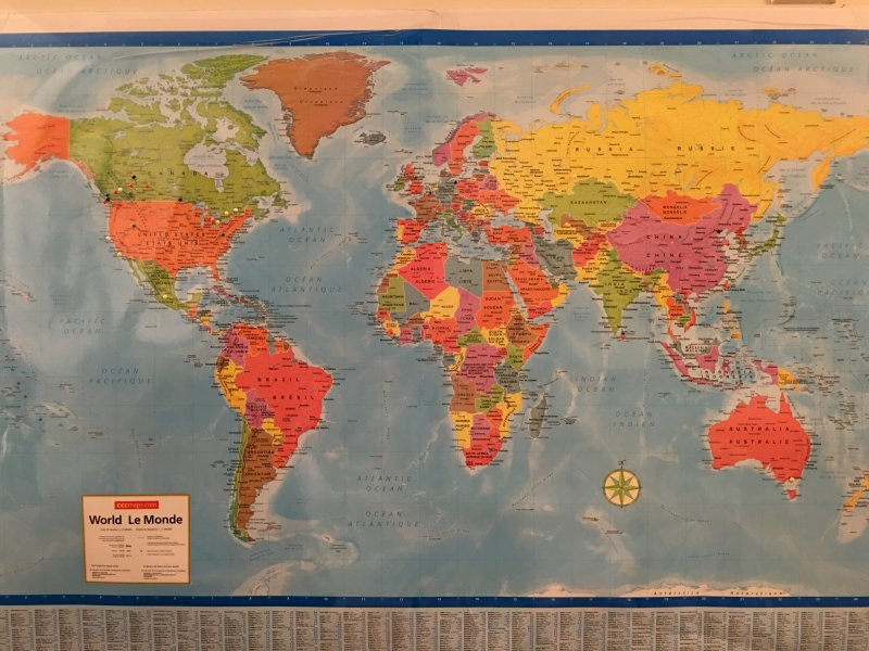 The Pins represent guests from all over the world. Come and Pin your home!