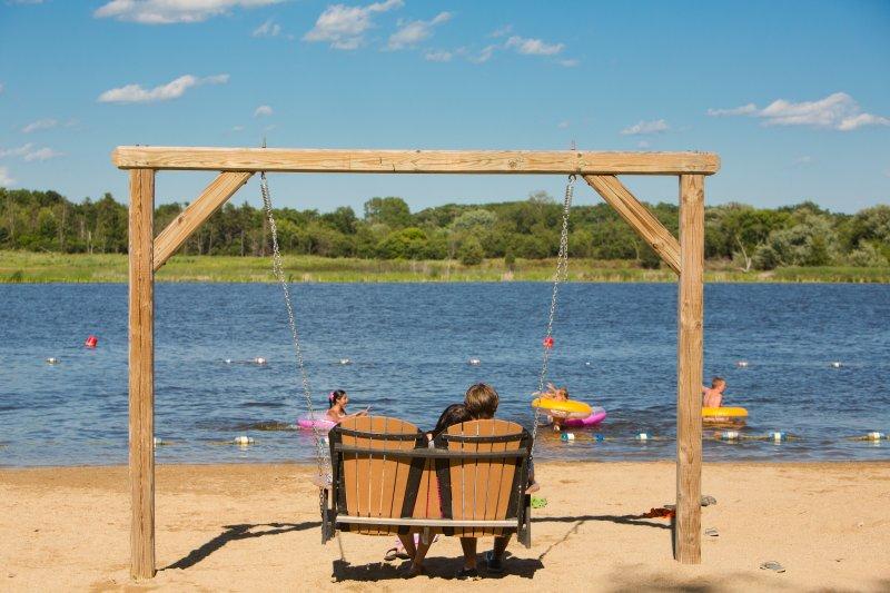 Community lake beach