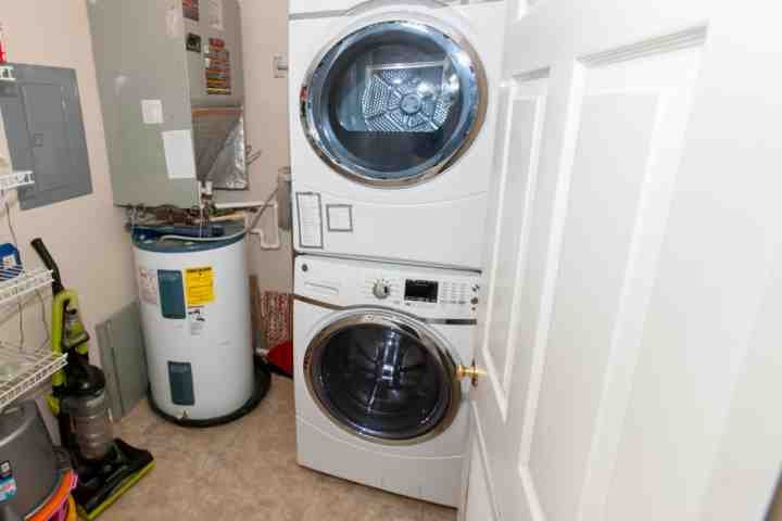 front loading washer/dryer in unit