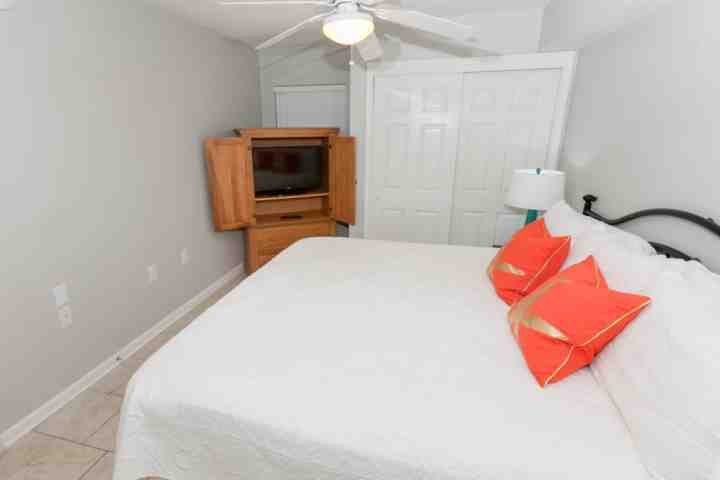Master bedroom with flat screen TV/DVD