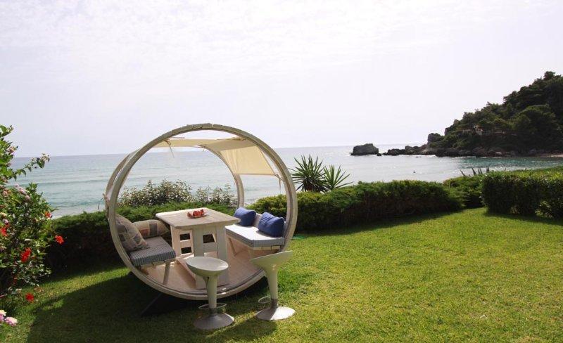 Corfu Glyfada Beachfront Villa AA3G, holiday rental in Vatos