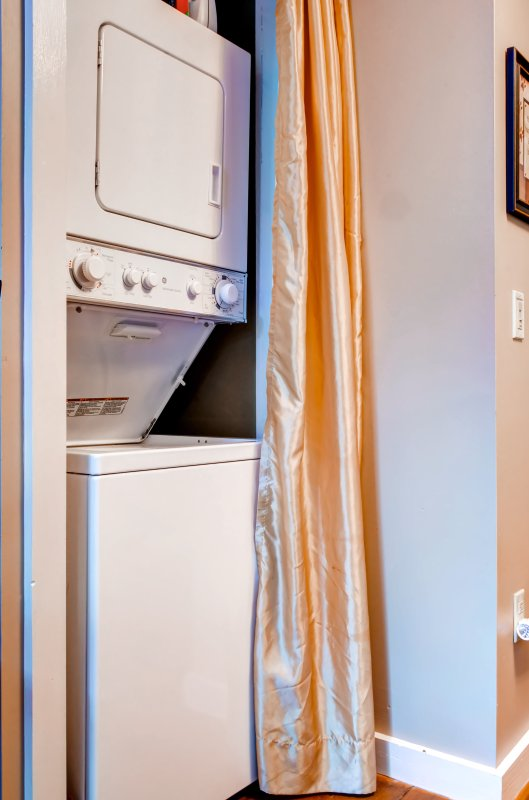 Utilize the in-unit washer and dryer during your stay.
