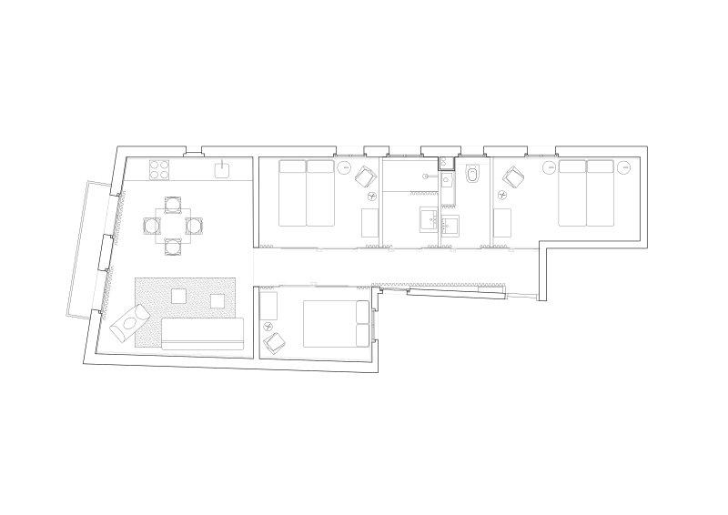 Centric Apartment Grundriss