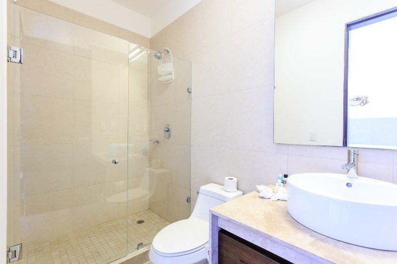In bedroom shower