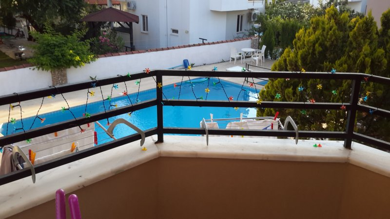 View of pools from balcony