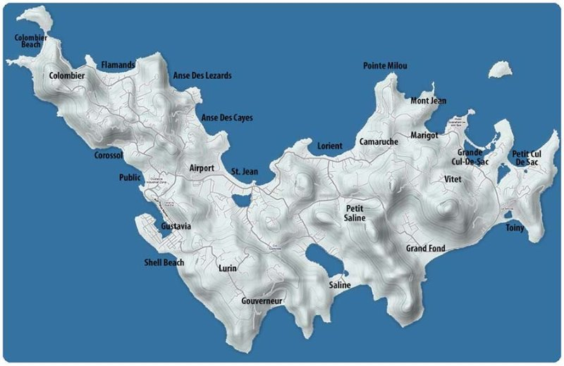 Map of St Bart's