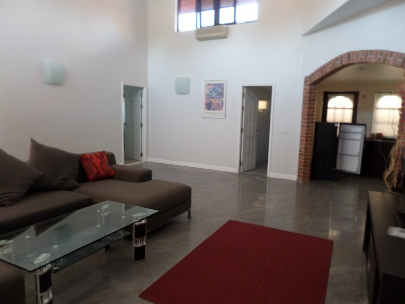 Large spacious lounge with air con cable tv wfi