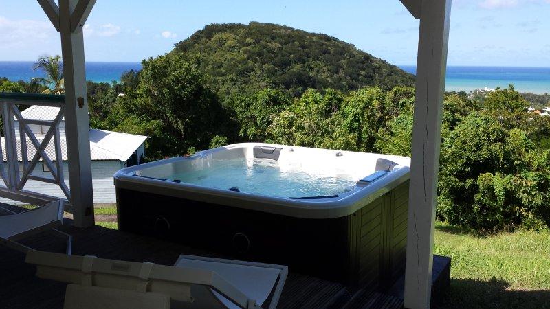 Soleil Couchant, gite climatisé, spa privé, vue, vacation rental in Rifflet