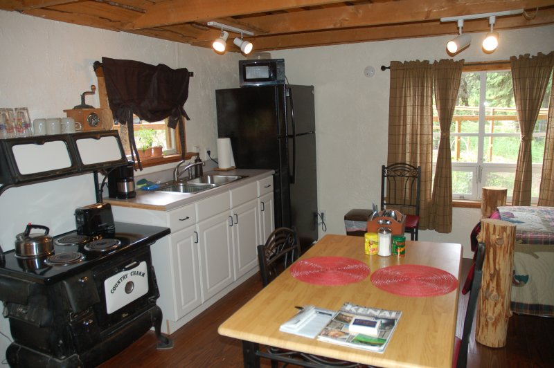 Kitchenette at Tranquility Cabin