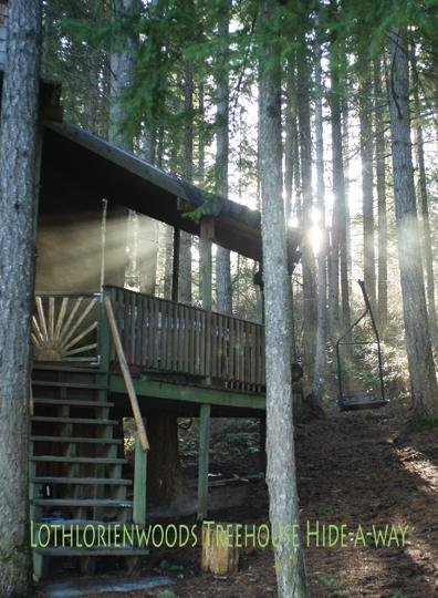 Tree House Tranquil-A-Tree Has Hot Tub And Mountain Views