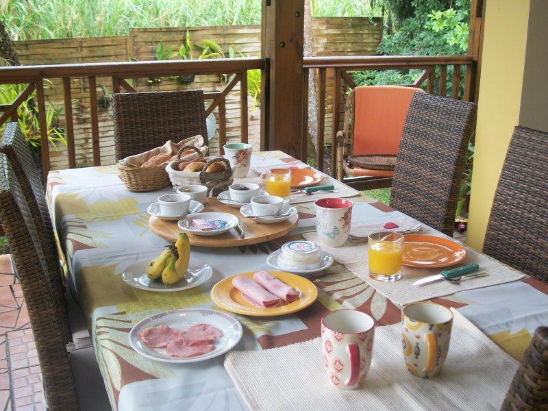La colazione sulla terrazza