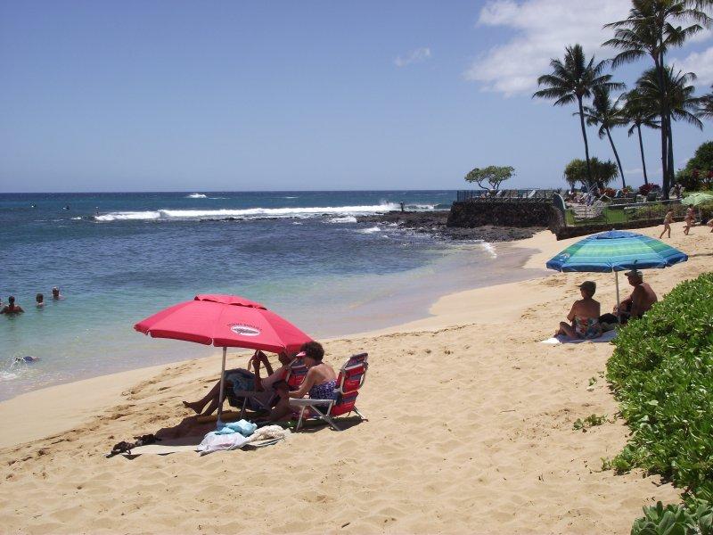Poipu Beach, just down the street.