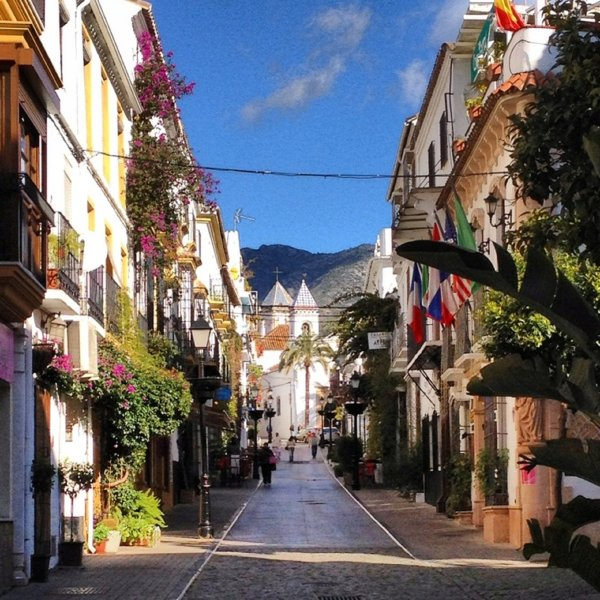 pitorescas ruas da Cidade Velha Marbella