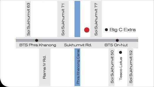 emplacement privilégié, juste en face de grand c superstore, distance de marche de BTS (skytrain)