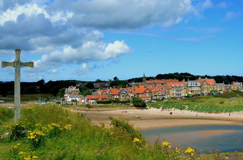 alnmouth village from church hill