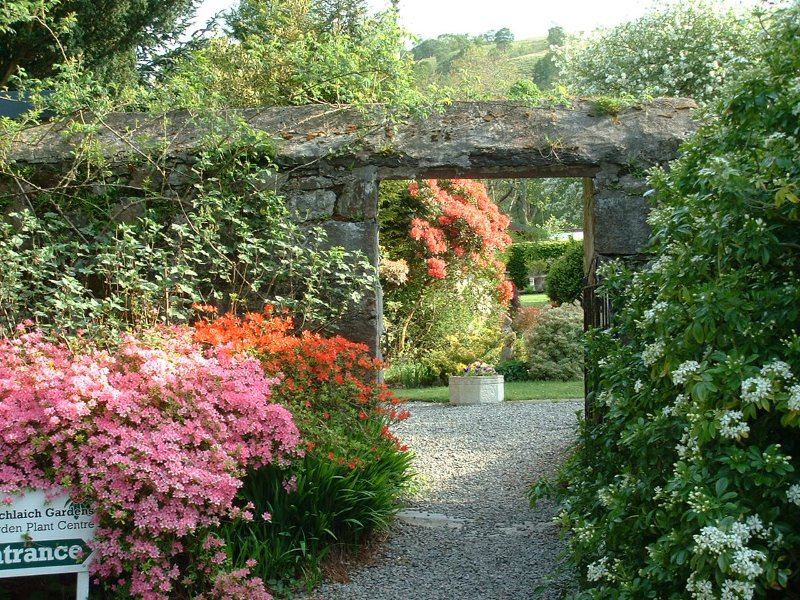 entrance to walled garden
