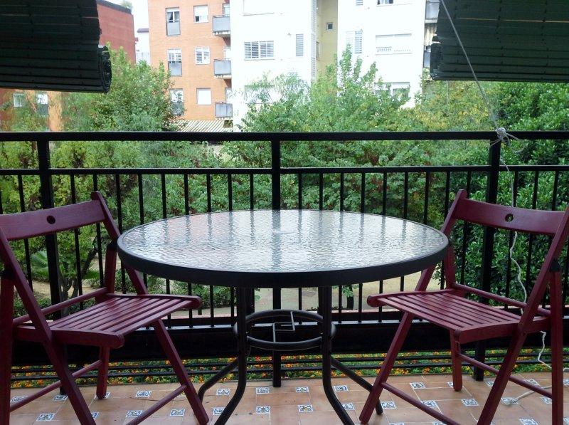 Coqueta terraza para desayunar!
