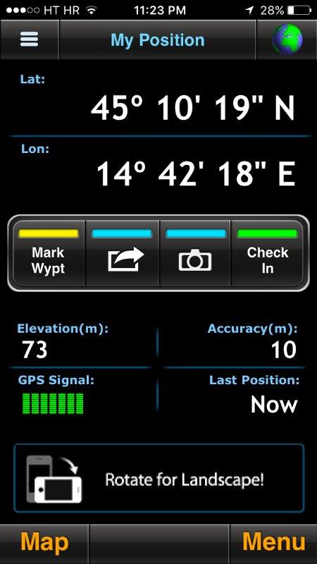 GPS position Apartment Kanjski