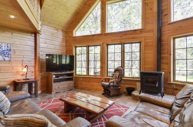 Couch, Möbel, Ofen, Innenaufnahme, Zimmer