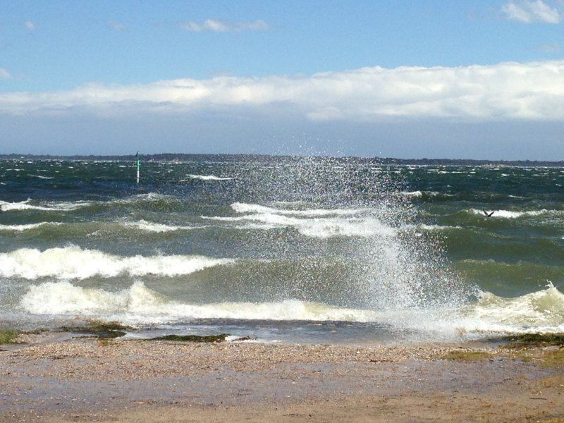 The lake can chop up on a windy day
