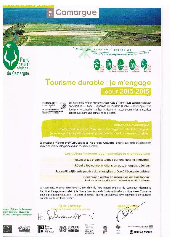 Label Park turismo sostenible Camarga