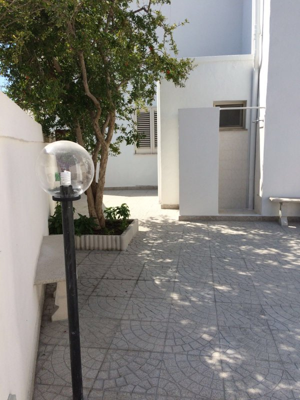 rear terrace with outdoor shower