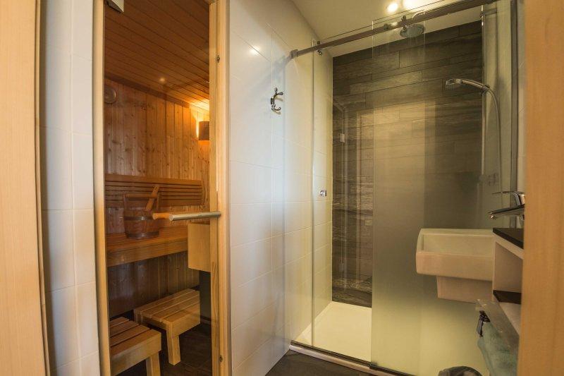 Facing the bedroom 3, 120x90cm shower Bathroom and SAUNA