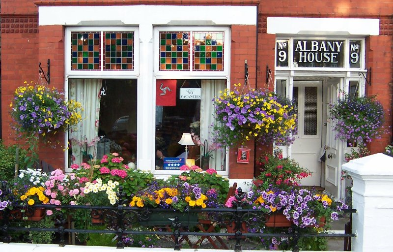 Our award winning front garden.  Sit out here and enjoy a glass of pimms.