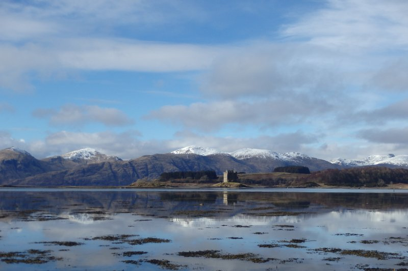 Castle stalker and the Morven Hills