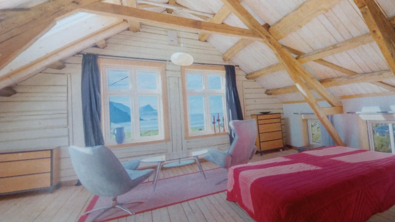 Old and beautiful house with a fantastic seaview, vacation rental in Nordland