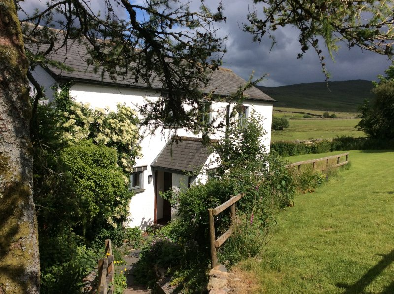 High Ground Cottage has wild and beautiful views of fells (Scafell!) and moors
