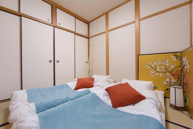 estilo japonês quarto Tatami.