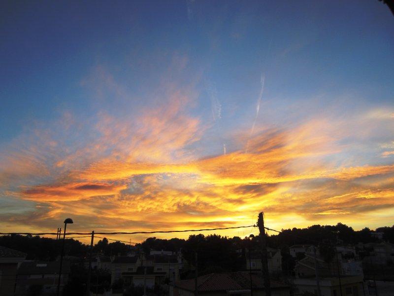 Posible puesta de sol desde la casa