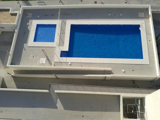 Communal swimming pool. Open from June 1 to September 15