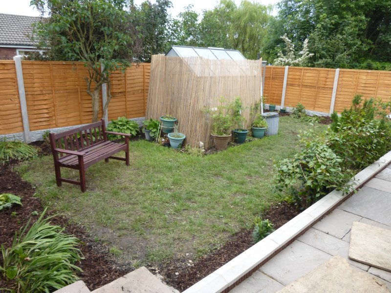 Sheltered and private rear garden