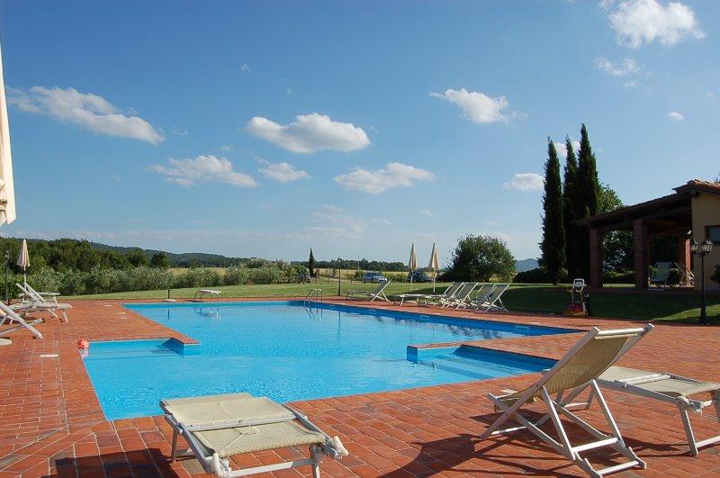 Villa Il Palazzo, big garden, swimming pool, in Tuscany, location de vacances à Levane