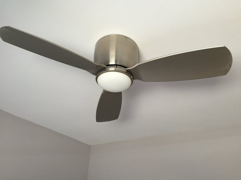 Remote control ceiling fans in every bedroom