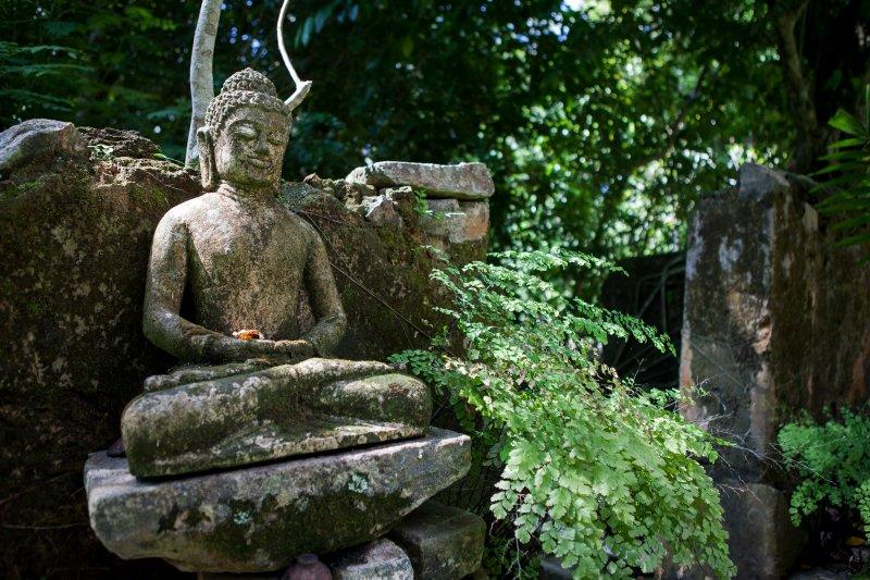 La nostra statua di Buddha nel giardino