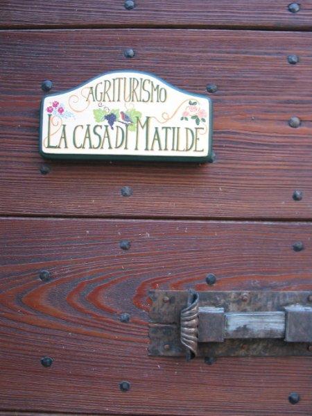 plaque on the front door