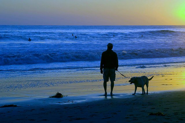 SUNSET AT THE BEACH OF TORREMOLINOS
