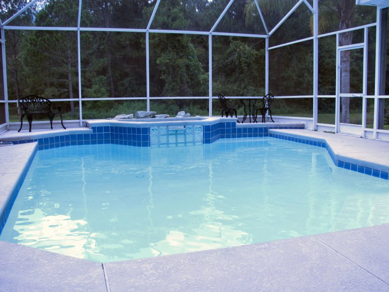 Beautiful private pool overlooking conservation area