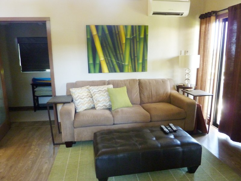 sofá da sala um sofá-cama queen.